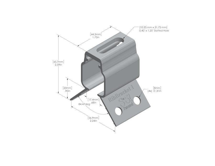 metal roof bracket rib bracket I