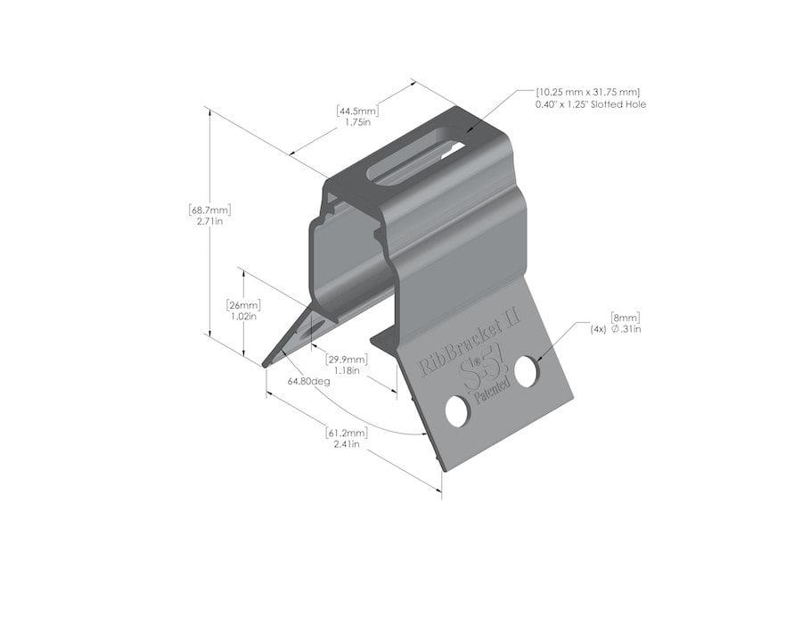 metal roof bracket rib bracket II