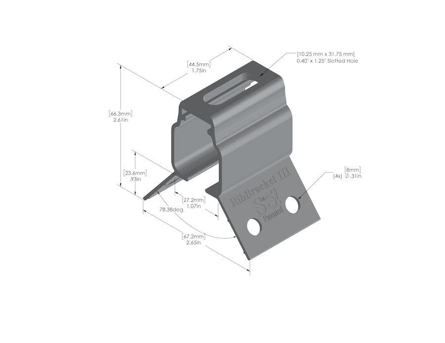 metal roof bracket rib bracket IV