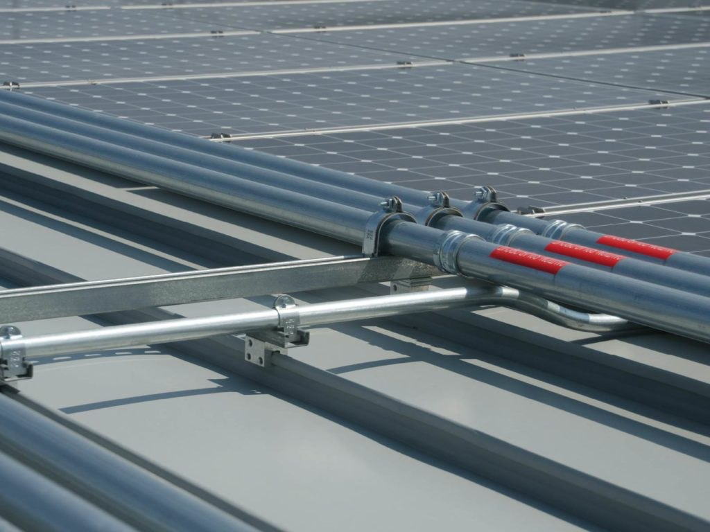 metal roofing conduit